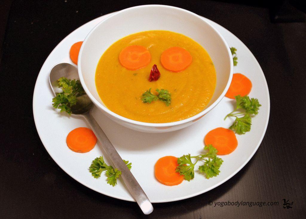морковный суп-пюре из тыквы