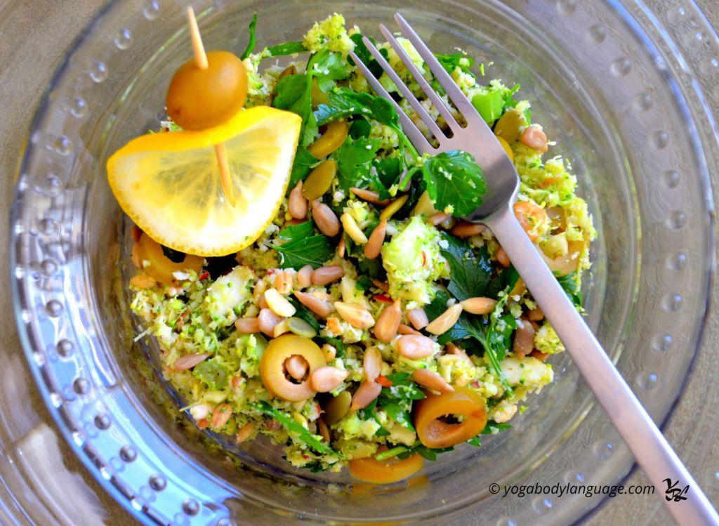 Овощной кус кус из брокколи